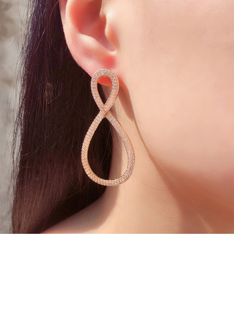 Ladies' Unique Alloy/Zircon Earrings For Bridesmaid/For Friends/For Her