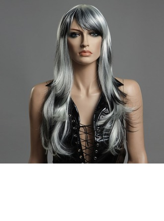 Body Wavy Synthetic Hair Capless Wigs 160g