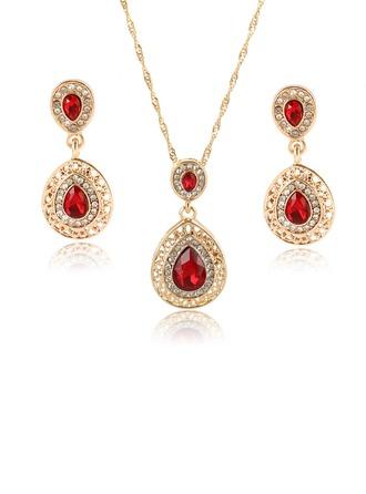 Exquisito Aleación/Diamantes de imitación/Vidrio con Rhinestone Señoras' Sistemas de la joyería