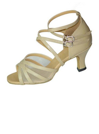 De mujer Cuero Tacones Sandalias Danza latina con Tira de tobillo Agujereado Zapatos de danza