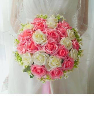 Precioso Redondo Satén Ramos de novia -