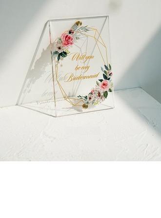 Regali Damigella D'onore - Delicato Acrilico Carta del giorno delle nozze