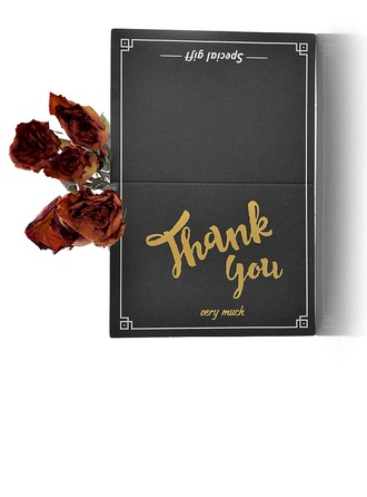 Modern Style Fold Side Thank You Cards (Zestaw 50)