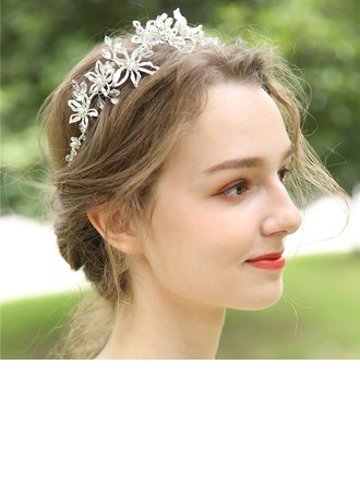 Ladies Beautiful Crystal/Rhinestone/Alloy/Imitation Pearls Headbands With Rhinestone/Crystal (Sold in single piece)