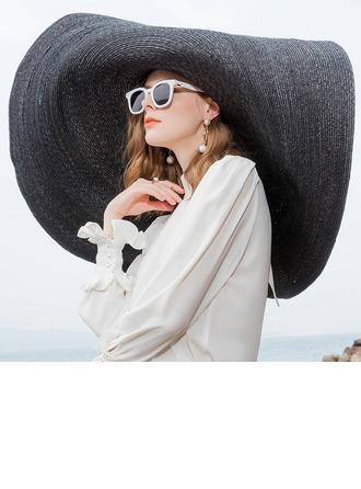 Señoras' Glamorosa/Estilo clásico/Elegante/Simple/Niza Paja de trigo Sombrero de paja
