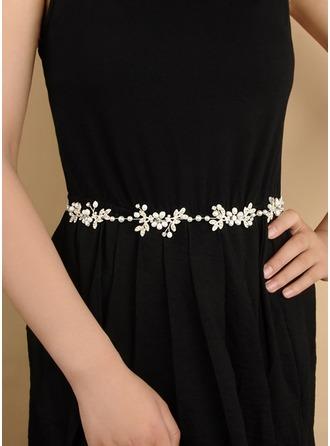 Elegant Satin Sash With Alloy/Imitation Pearls