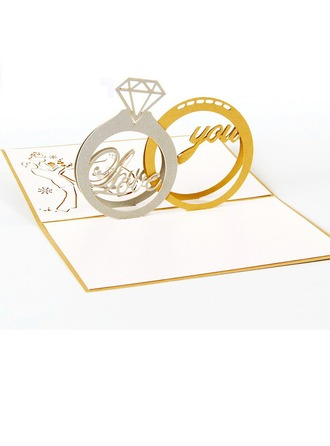 Artistic Style Fold Side Invitation Cards Komplet 20
