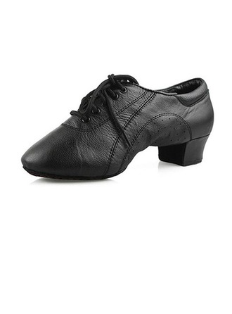 Men's Real Leather Heels Pumps Latin Ballroom Practice Character Shoes Dance Shoes