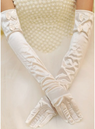 Fabric Opera Length Bridal Gloves