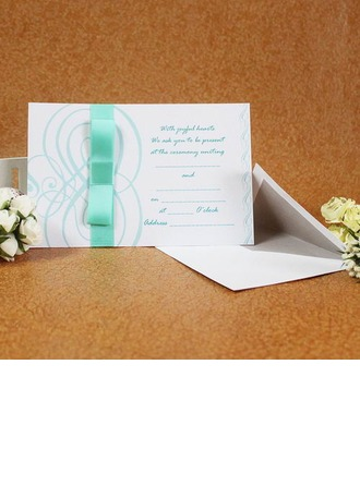 Tappning Färg Enkla kort Invitation Cards med Stråkar/Färgband (Sats om 50)