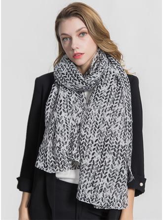 Bloemen lichtgewicht/te groot Polyester Sjaal