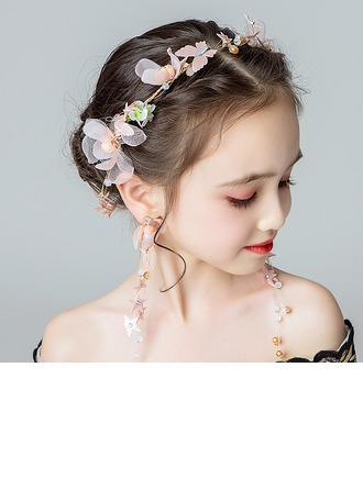 Alloy/Crystal With Flower Headbands/Earrings