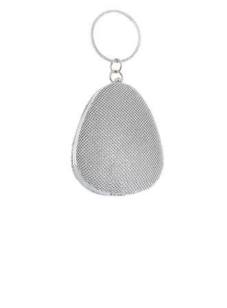 Único Cristal / Diamante/PU Bolso Claqué