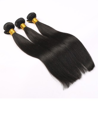 5A Straight Human Hair Human Hair Weave (Sold in a single piece)