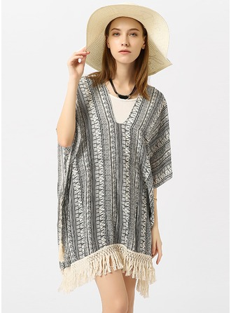 Light Weight/fashion Polyester Beach Poncho