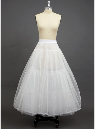 Women Tulle Netting/Polyester Floor-length 3 Tiers Petticoats