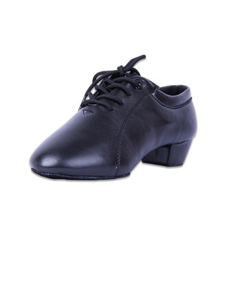 Men's Kids' Leatherette Heels Latin Ballroom Practice Character Shoes With Lace-up Dance Shoes