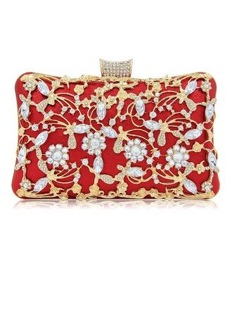 Glänzende Legierung Handtaschen/Schminktäschchen