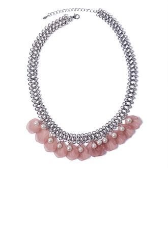 Único Aleación La perla de faux Acrílico con Perlas de imitación De mujer Collar de la manera
