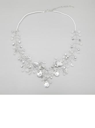 Kaunis Metalliseos jossa Kristalli/Lasihelmet Sonar Naisten Kaulakorut