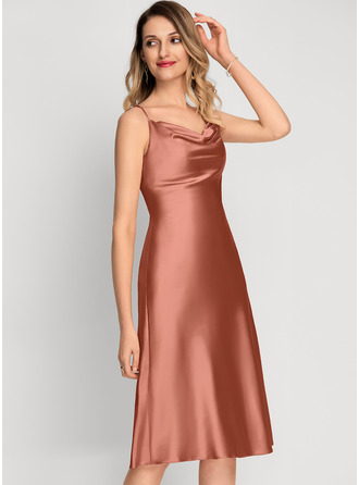 Cowl Neck Silk Dresses