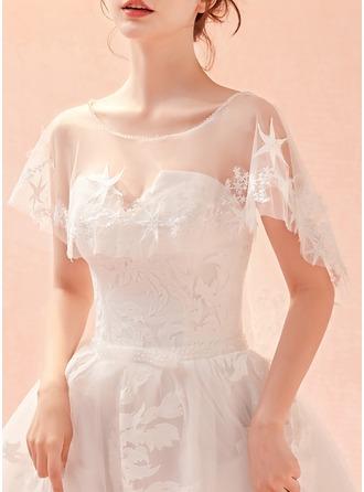 Lace Tulle Rhinestones Wedding Wrap