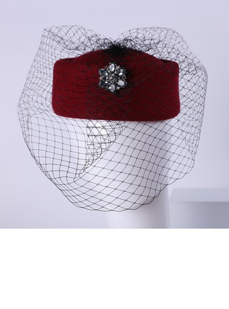 Ladies' Nice Wool With Rhinestone Bowler/Cloche Hats/Tea Party Hats