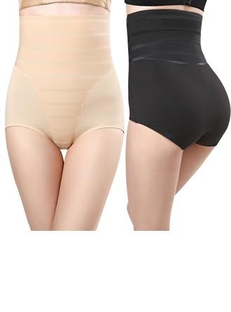 Naiset Naisellinen/Seksikäs Chinlon/Nailon Korkea Vyötärö Alushousut Body Shaper -housut