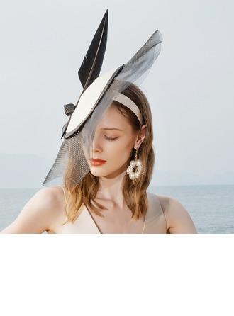 Senhoras Especial/Charmosa/Elegante/Atraente Poliéster com Pena Fascinators
