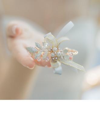 Невеста Подарки - нежный Cплав шелковые перлы ложный Наручный корсаж