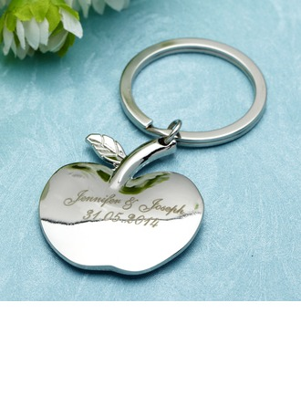 """Personalized """"Apple of My Eye"""" Stainless Steel Keychains (Set of 6)"""