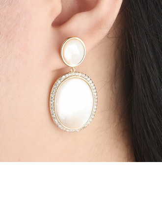 Ladies' Elegant Alloy/Shell Earrings For Mother/For Friends/For Her