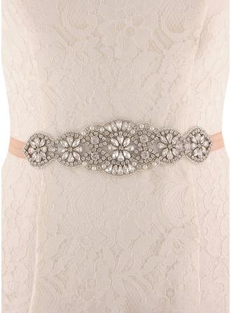 Hermoso Satén Fajas con Diamantes de imitación/La perla de faux