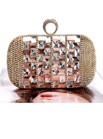 Elegant Alloy Clutches/Satchel