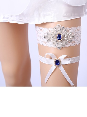 2-Piece/Sexy Lace With Rhinestone Wedding Garters