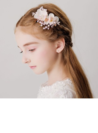 With Rhinestones/Flower Hairpins (Sold in a single piece)