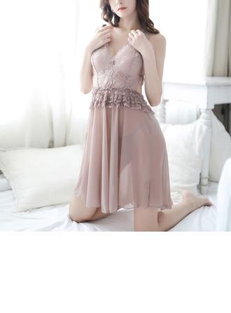 Кружева/Тюль Классический женственный пижама