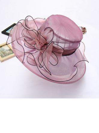 Sonar Naisten Charmia Organzanauha jossa Silkki kukka Levyke hattu/Kentucky Derbyn hatut/Tea Party Hatut