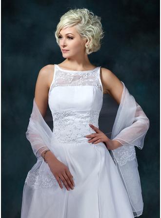 Lace Organza Wedding Shawl