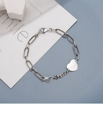 Anti-oxidation Link & Chain Chain Bracelets With Heart -