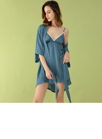 poliéster Fantasía Femenino Pijama conjunto