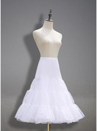 Women Tulle Netting Knee-length 2 Tiers Petticoats