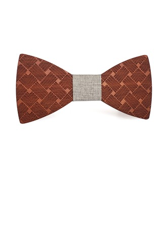 Classic Modern Vintage Wood Bow Tie