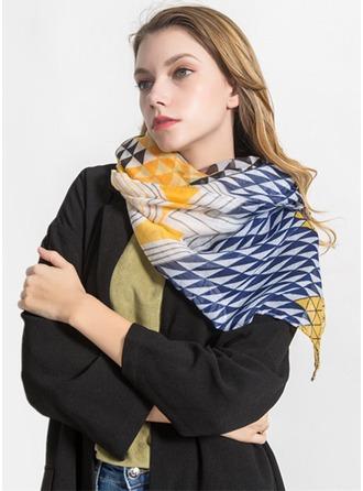 Stampa geometrica leggera/oversize/moda Voile Sciarpa