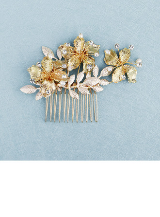 Beautiful Alloy Combs & Barrettes With Venetian Pearl (Sold in single piece)