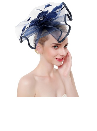 Dames Mode/Style Classique/Simple Fil net avec Feather Chapeaux de type fascinator