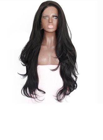 Kinky Straight Synthetic Hair Lace Front Wigs