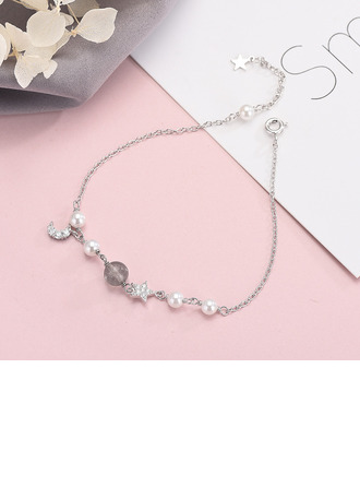 Anti-oxidation Delicate Chain Charm Bracelets With Moon Star -