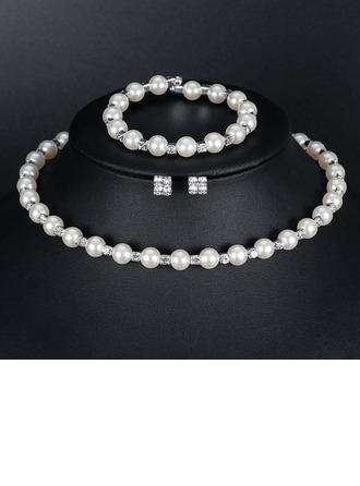 Liga/Falso pérola Senhoras Conjuntos de jóias