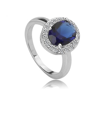 Elegant Copper/Zircon With Rhinestone/Crystal Ladies' Rings